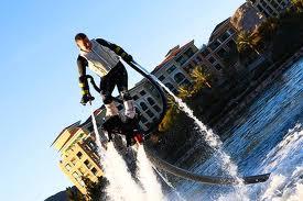 flyboard latajacy czlowiek, integracja, na wodzie, jetlev